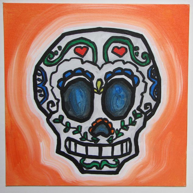 day of dead skull. Day Of The Dead Skull 2