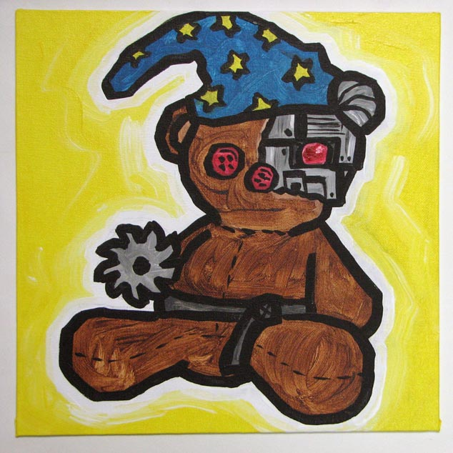 wizard cyborg ninja teddy bear