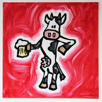 Cow With Beer