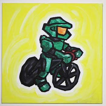 Master Chief On A Bike