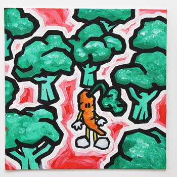 Carrot In Broccoli Forest