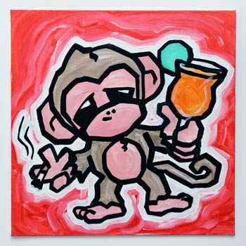Monkey With Cigarette And Margarita