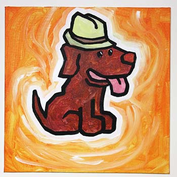 Dog With Fedora