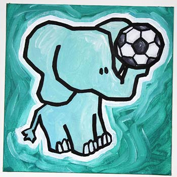 Elephant With Soccer Ball