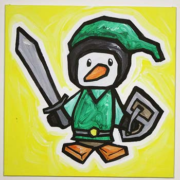 Link From Zelda Penguin