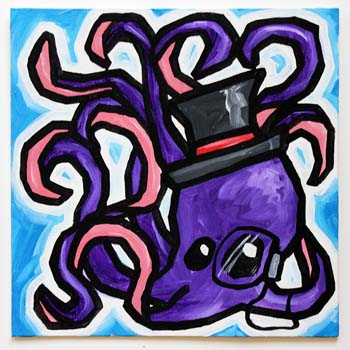 Octopus In Top Hat And Monocle