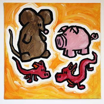 Rat, Pig And Dragons