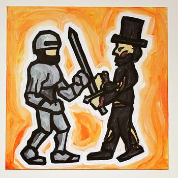 RoboCop Fighting Zombie Lincoln
