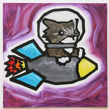 Cat In Rocket