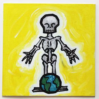 Skeleton Over World