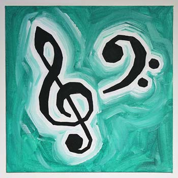 Treble Clef And Bass Clef