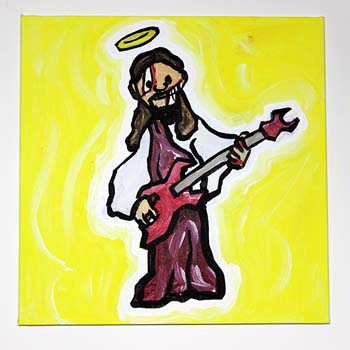 Zombie Jesus Playing Guitar